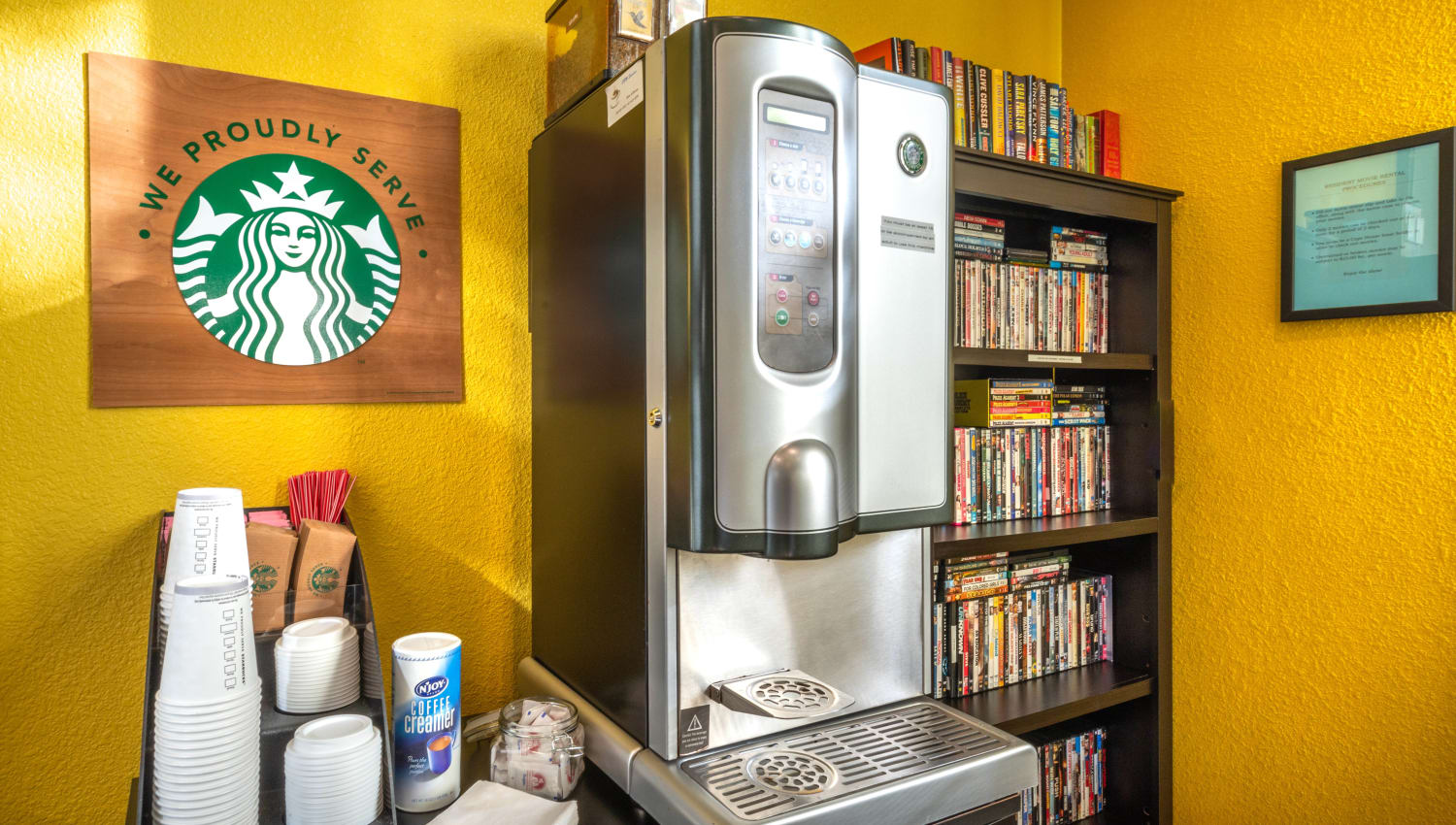 Starbucks station in the clubhouse at Cape House in Jacksonville, Florida
