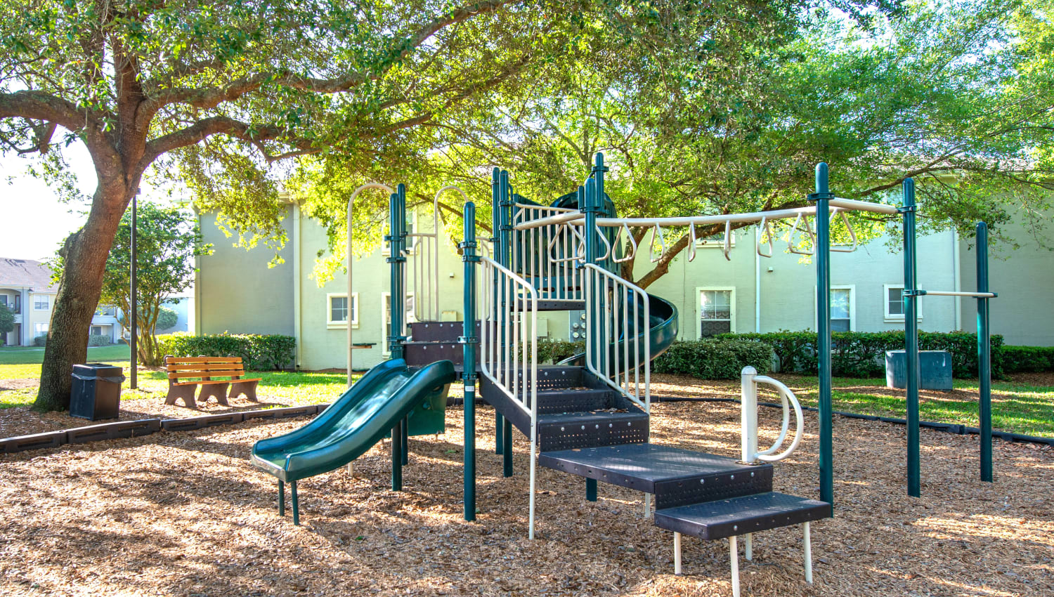 One of the onsite playgrounds at Cape House in Jacksonville, Florida