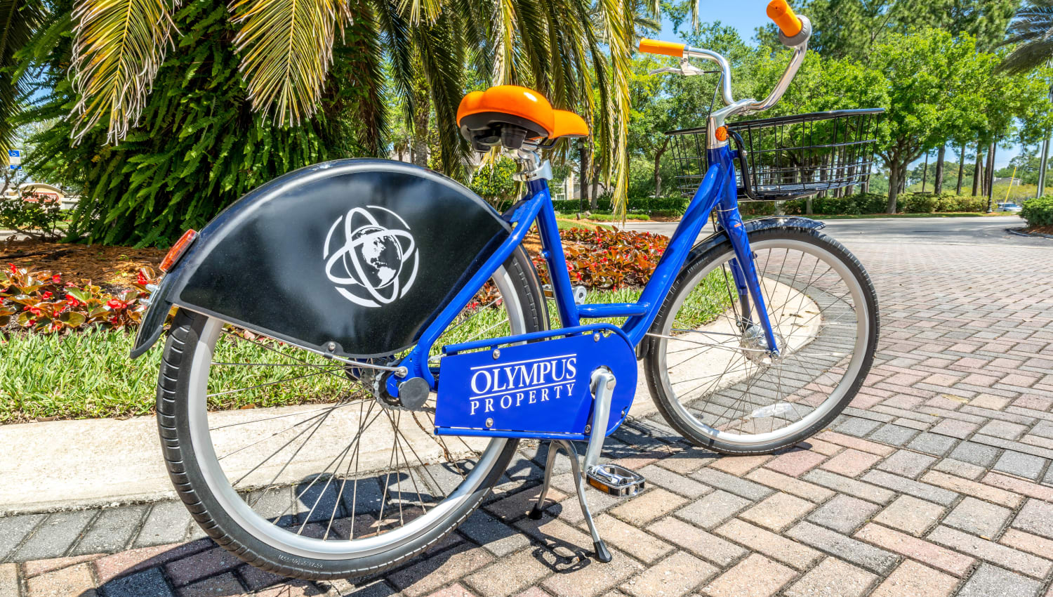 Bikes available for resident use around the community at Cape House in Jacksonville, Florida
