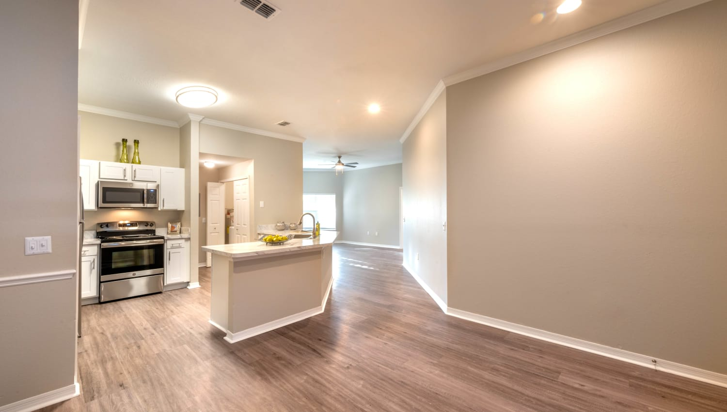 Plenty of room in the open-concept living space of a model home at Cape House in Jacksonville, Florida