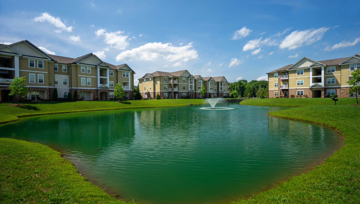 Onsite lake at Legends at White Oak in Ooltewah, Tennessee
