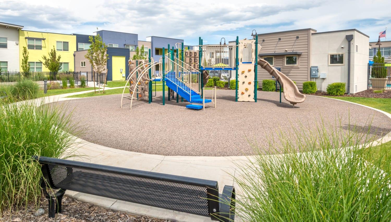 Children's playground at Olympus at Daybreak in South Jordan, Utah