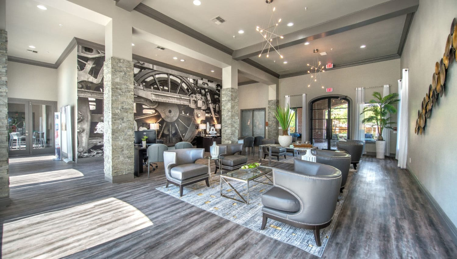 Spacious resident lounge at Olympus 7th Street Station in Fort Worth, Texas