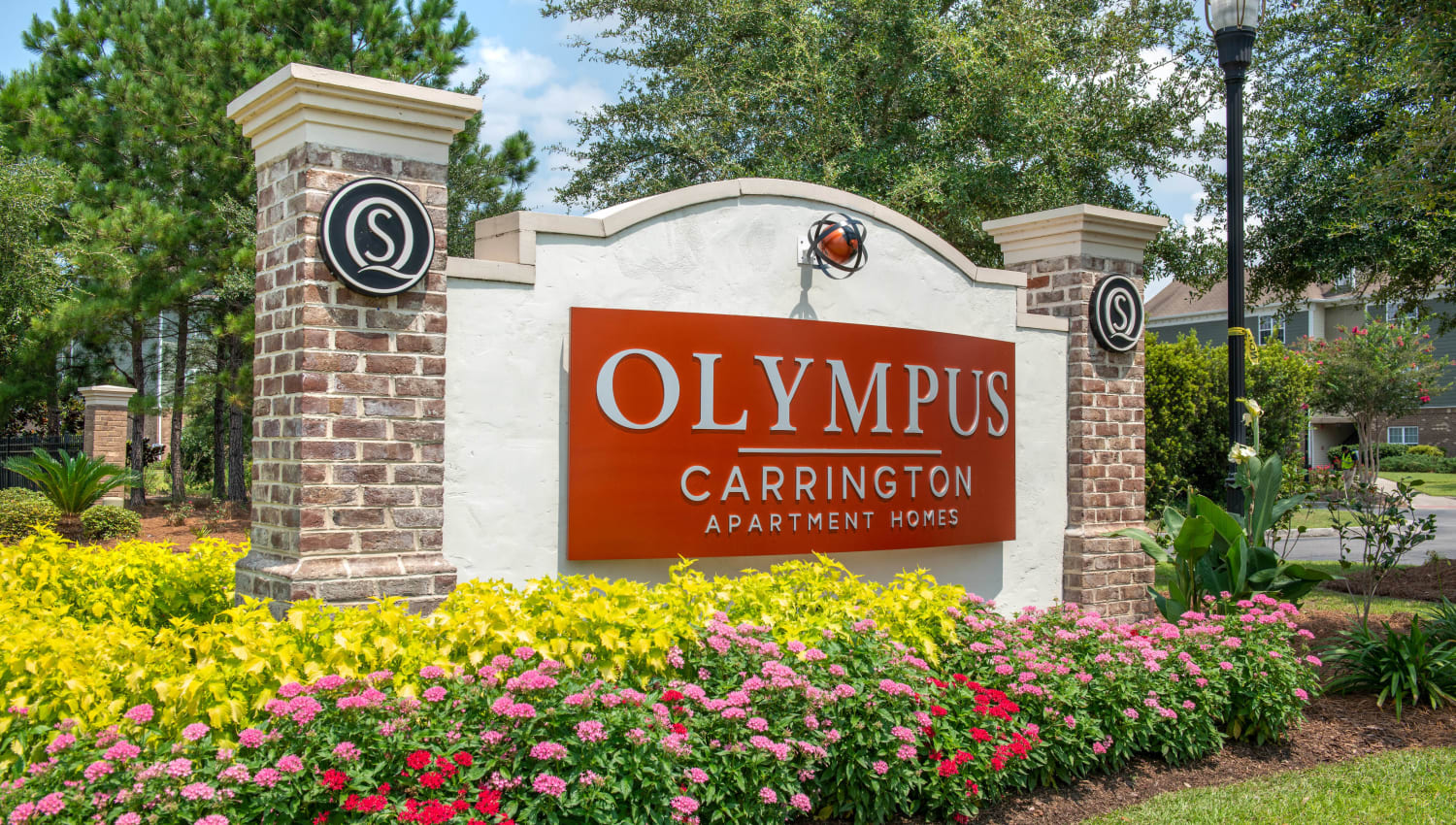 Our monument sign welcoming residents home to Olympus Carrington in Pooler, Georgia