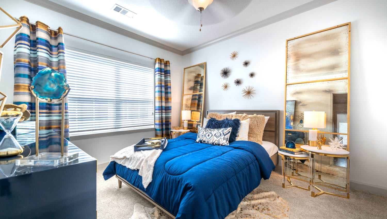 Model apartment's well-furnished child's bedroom at Olympus Carrington in Pooler, Georgia