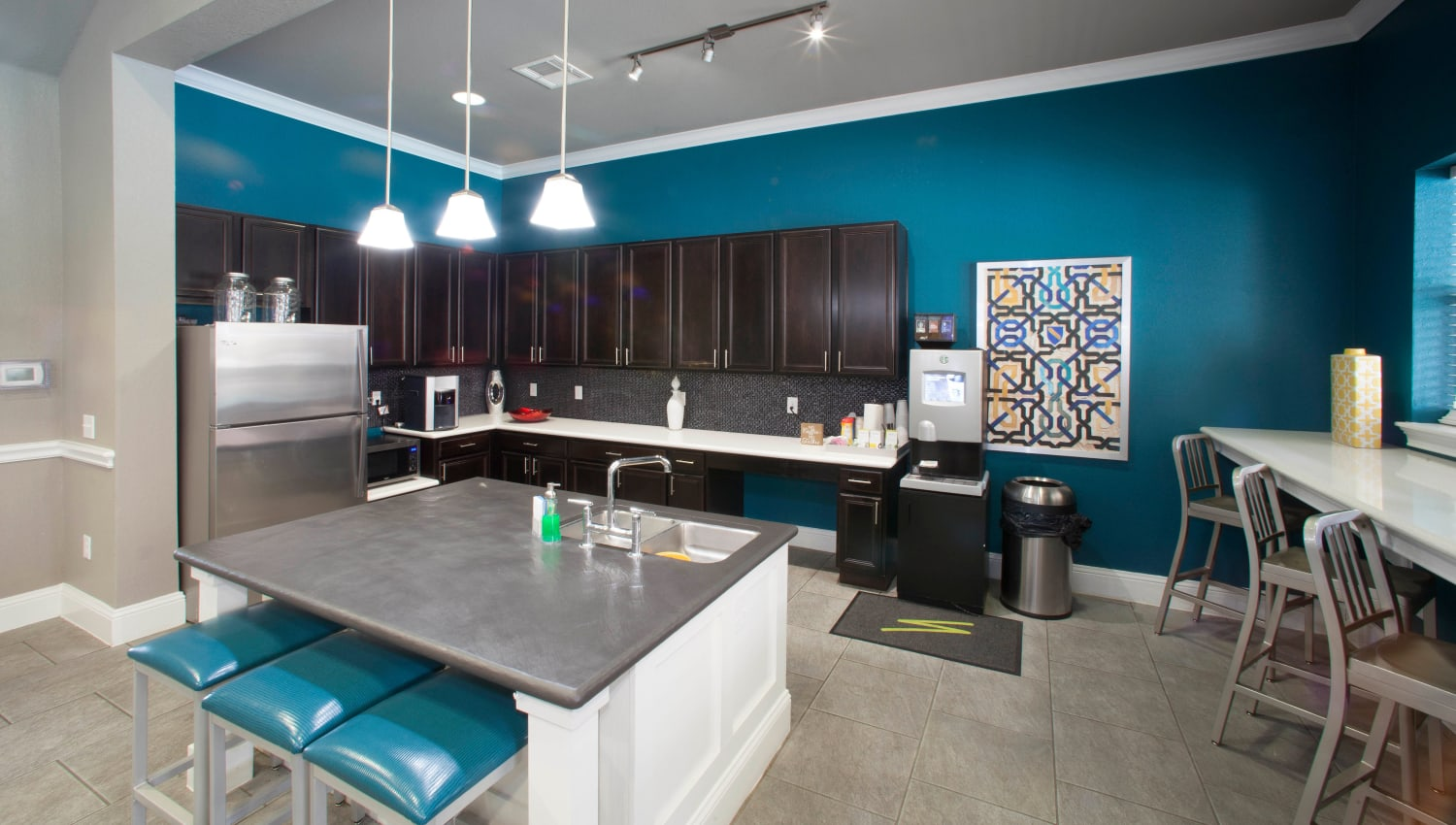 Demonstration kitchen in the clubhouse at Olympus Katy Ranch in Katy, Texas