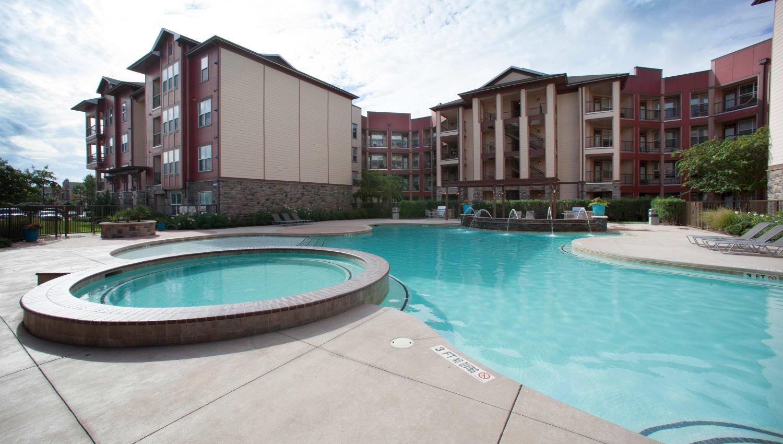 Spa and swimming pool at Olympus Katy Ranch in Katy, Texas