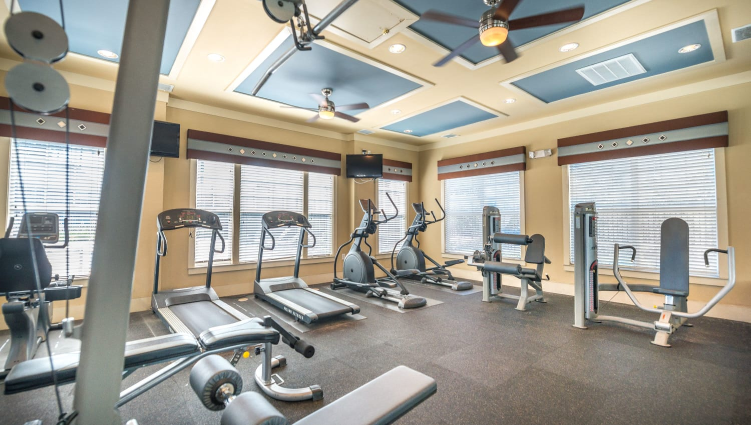 Onsite fitness center at Odyssey Lake in Brunswick, Georgia