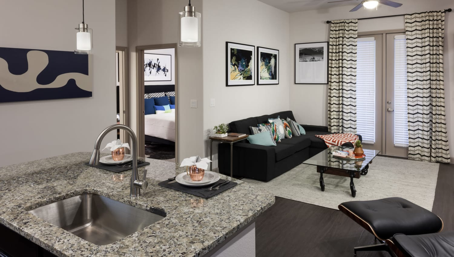 Open concept floor plan layout at Olympus Auburn Lakes in Spring, Texas
