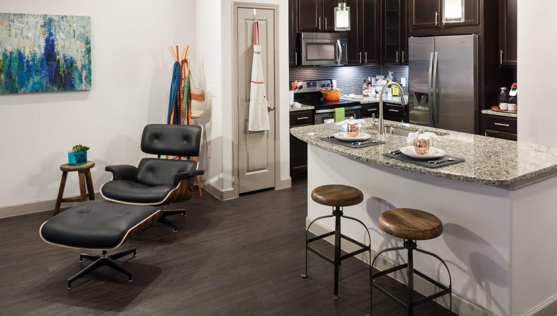 Granite countertops in kitchen at Olympus Auburn Lakes in Spring, Texas
