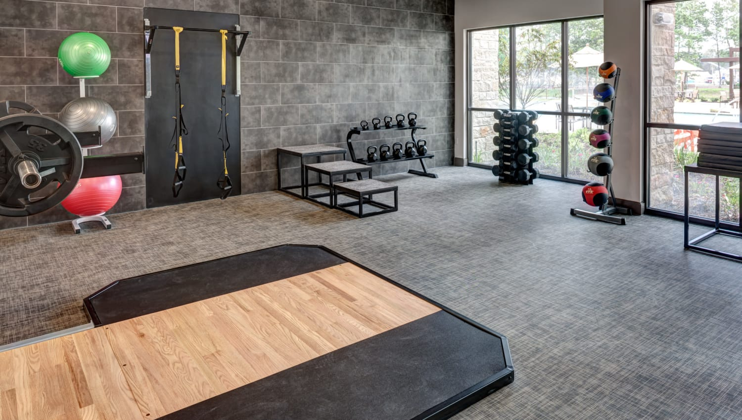 State-of-the-art athletic club of Olympus Auburn Lakes in Spring, Texas