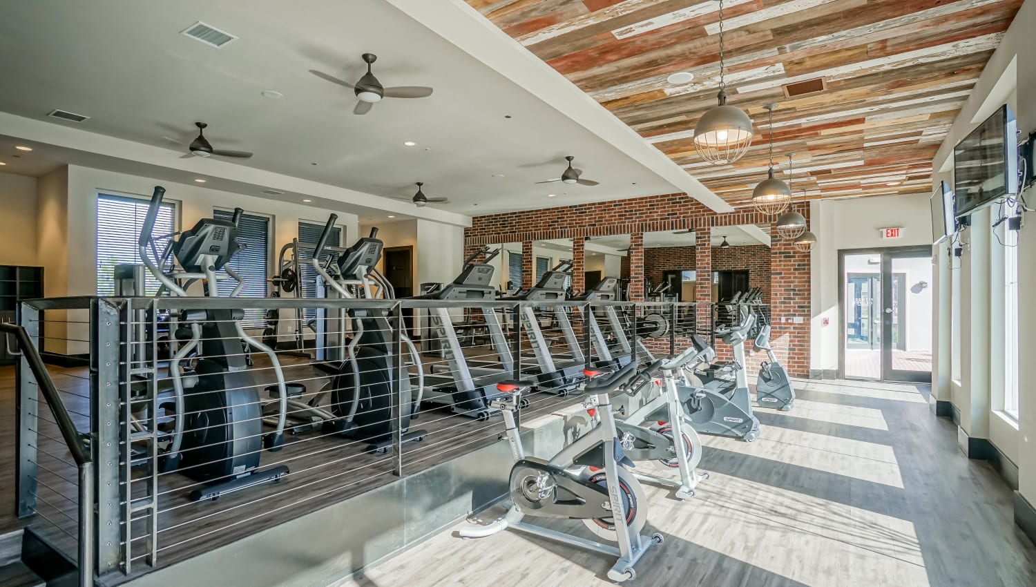 Cardio machines galore at the onsite fitness center at Olympus Northpoint in Albuquerque, New Mexico
