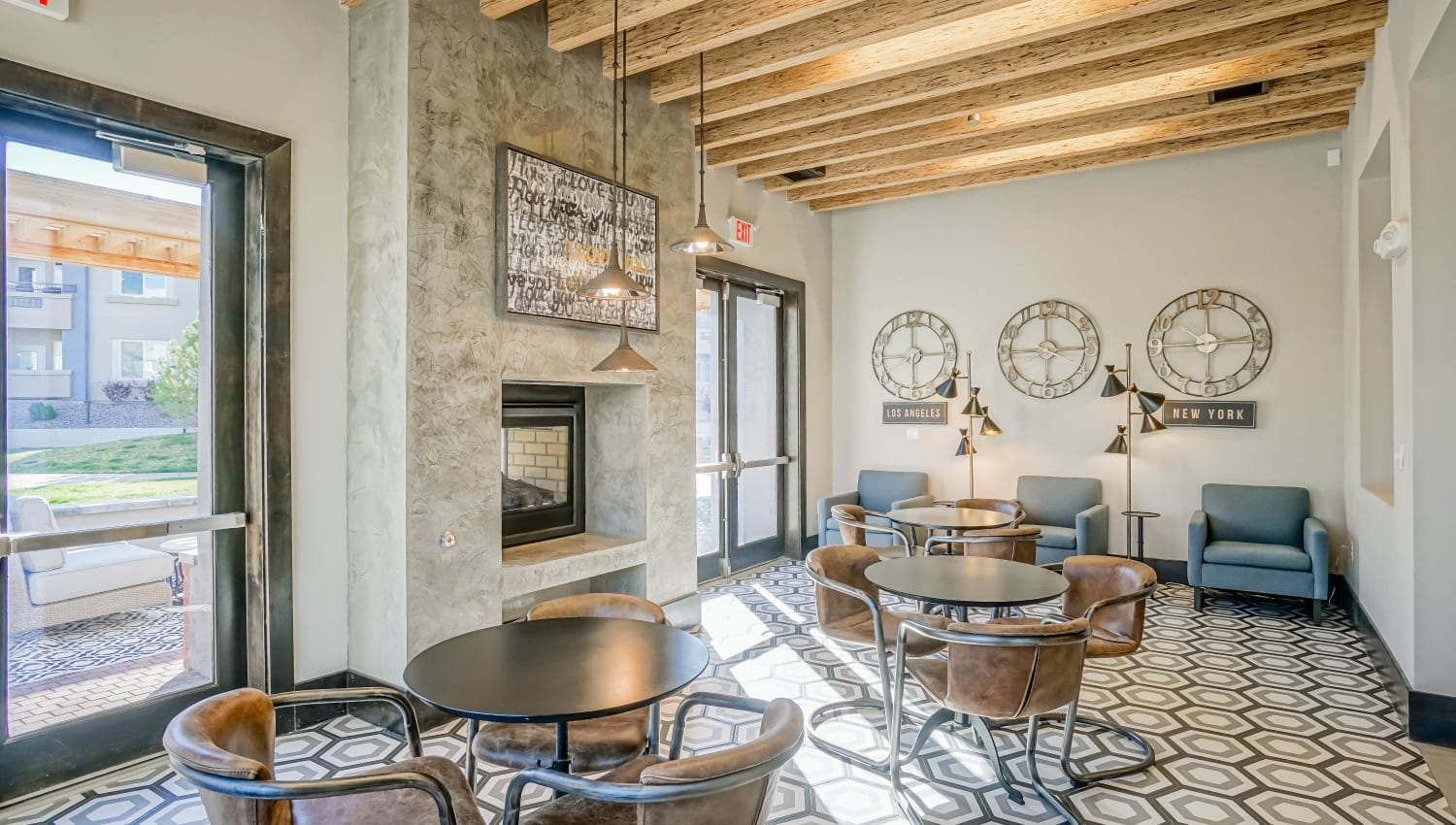 Warm and welcoming resident clubhouse at Olympus Northpoint in Albuquerque, New Mexico