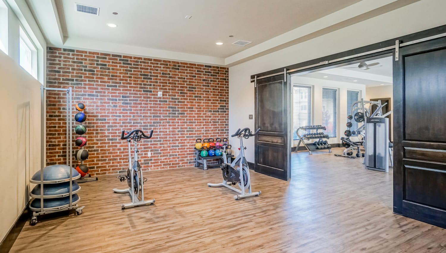 Spin class room at Olympus Northpoint in Albuquerque, New Mexico
