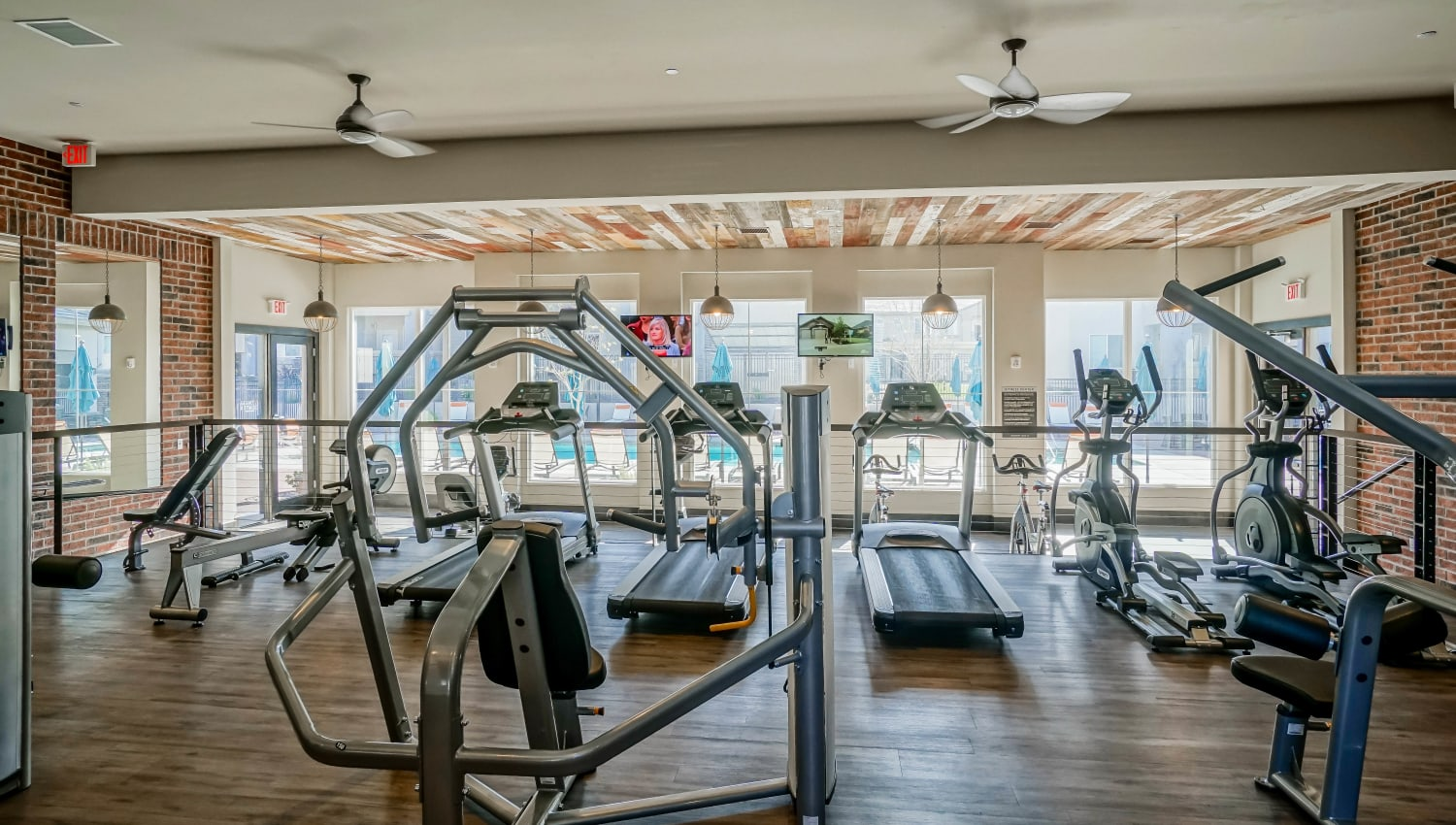 Treadmills, stairclimbers, and more in the fitness center at Olympus Northpoint in Albuquerque, New Mexico