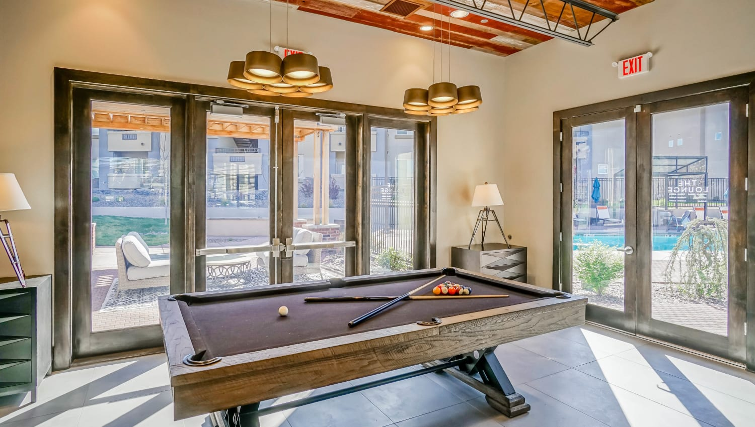 Billiards table in the clubhouse at Olympus Northpoint in Albuquerque, New Mexico