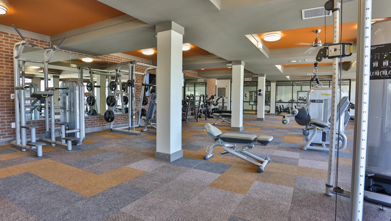Spacious onsite fitness center at Olympus Steelyard in Chandler, Arizona