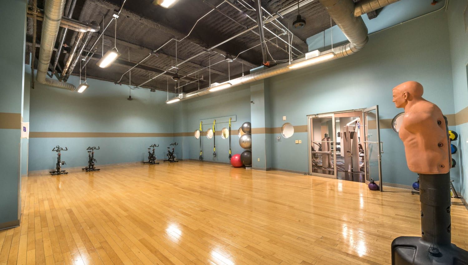 State-of-the-art fitness center at Mosaic Dallas in Dallas, Texas