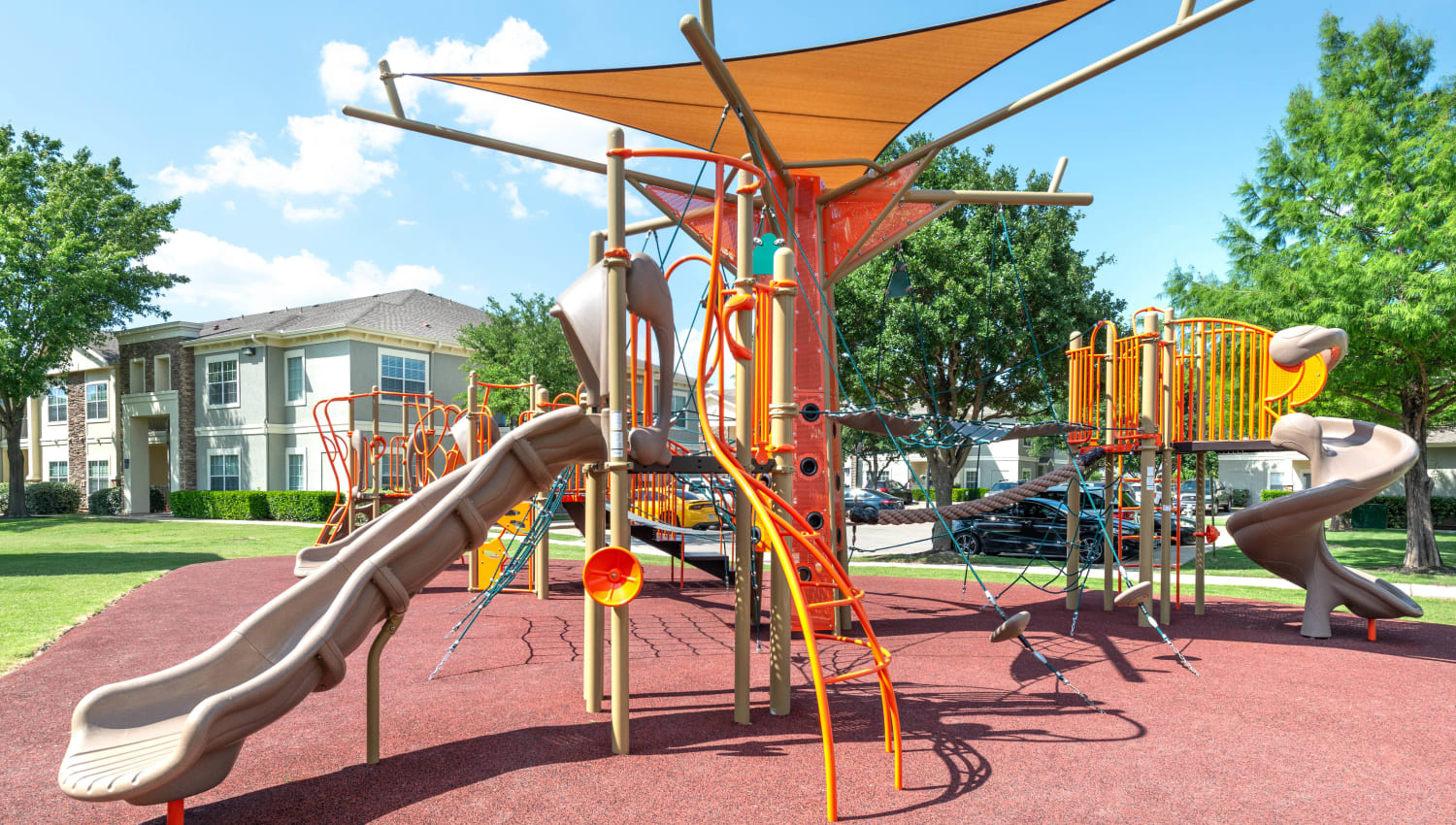 State-of-the-art children's playground at Olympus Stone Glen in Keller, Texas