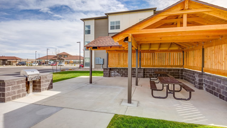 Covered picnic area at Granite 550 in Casper, Wyoming