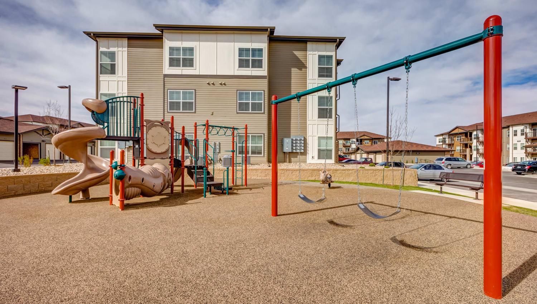Large onsite children's playground at Granite 550 in Casper, Wyoming
