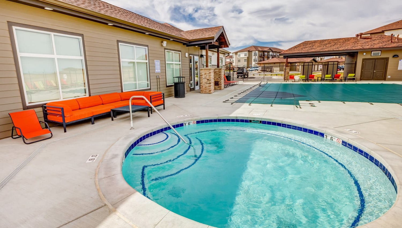 Spa near the pool at Granite 550 in Casper, Wyoming