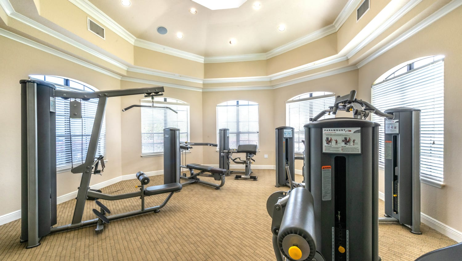 Onsite fitness center at Mirador & Stovall at River City in Jacksonville, Florida