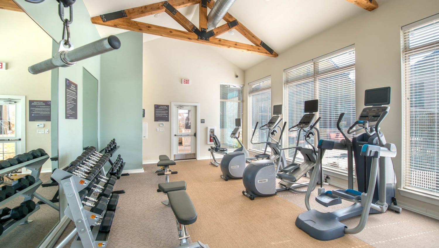 Onsite fitness center at Olympus Waterford in Keller, Texas