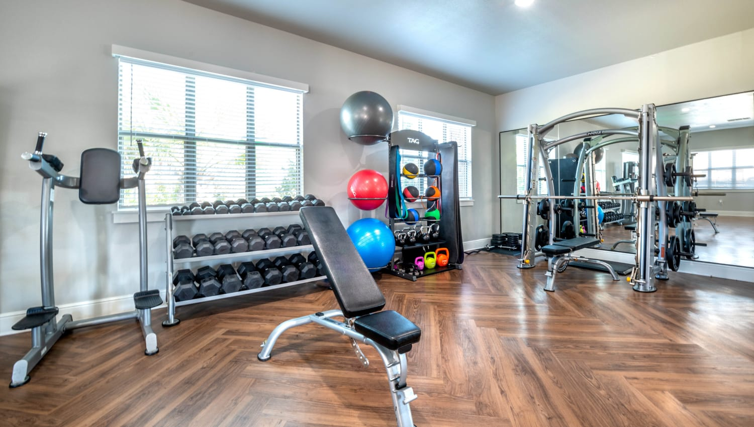 Fitness center at Olympus Willow Park in Willow Park, Texas