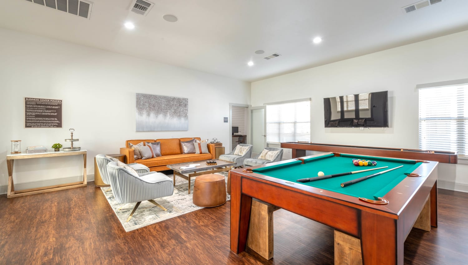 Billiards and more in the game room at Olympus Willow Park in Willow Park, Texas