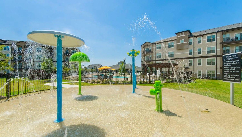 Splash park at Olympus Woodbridge in Sachse, Texas