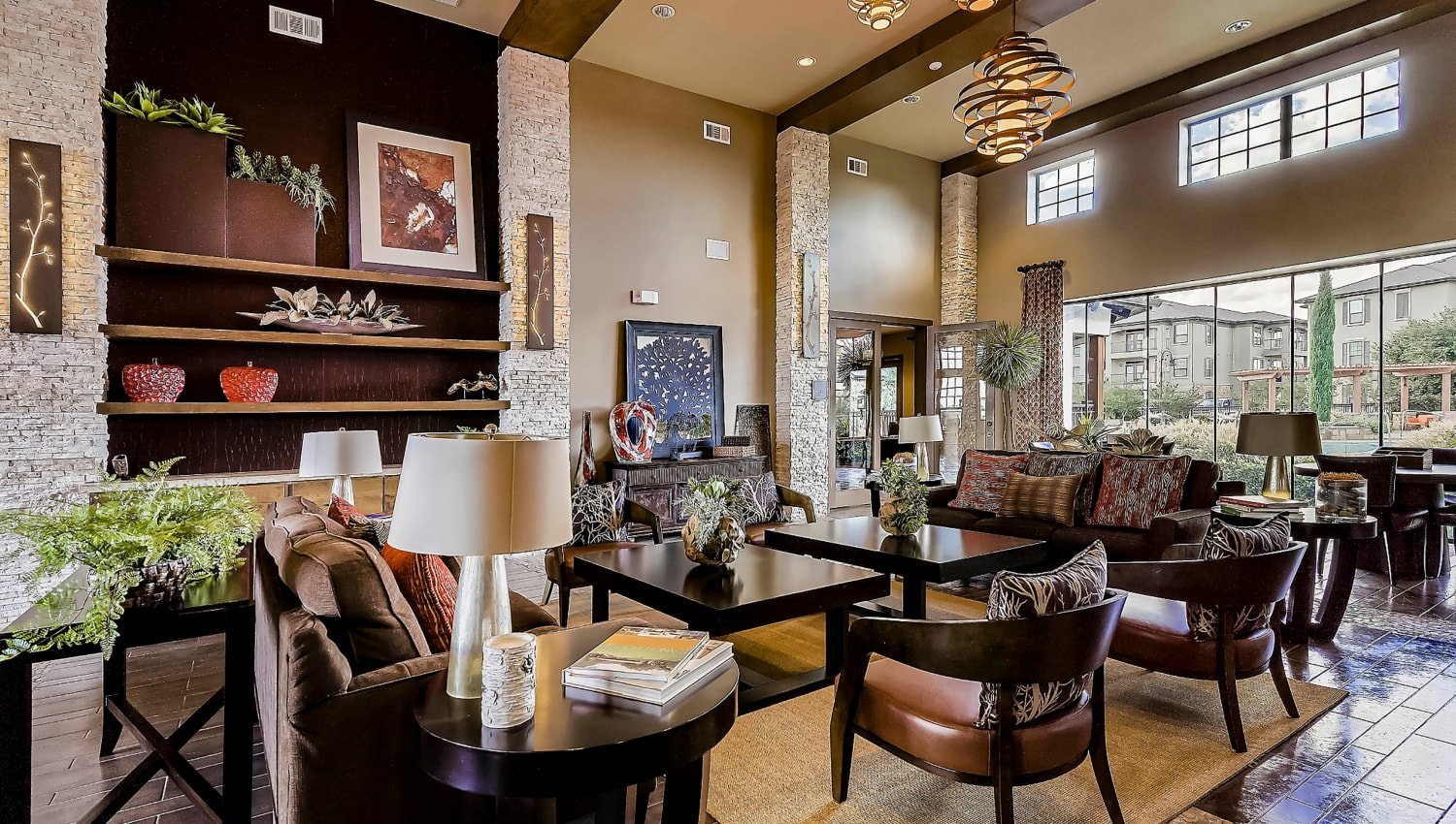 Clubhouse lounge area at Sedona Ranch in Odessa, Texas