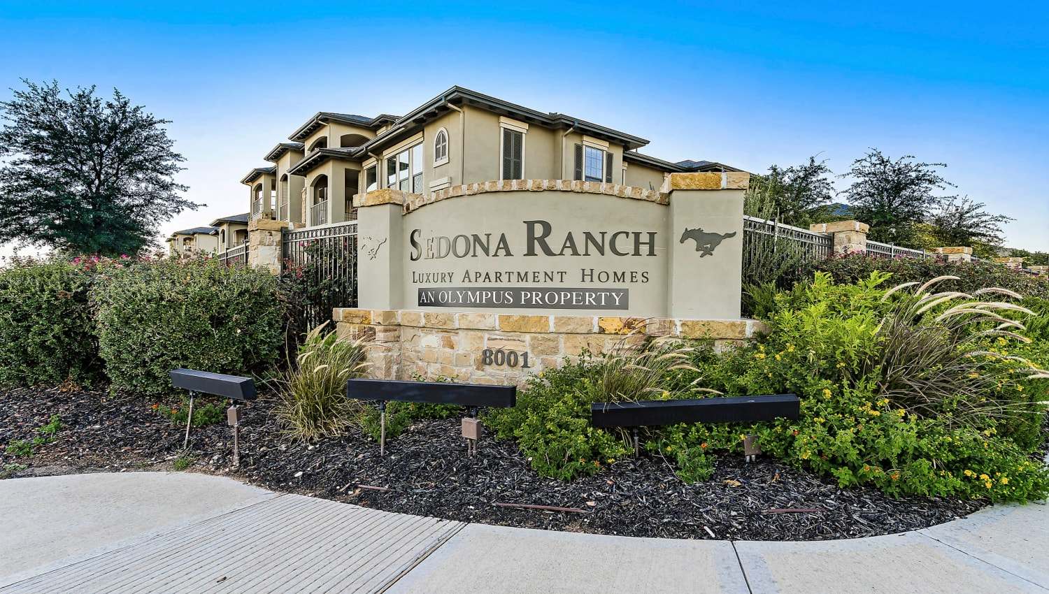 Our monument sign welcoming residents and guests to Sedona Ranch in Odessa, Texas