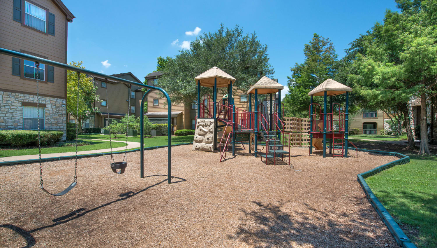 Large onsite children's playground at The Ranch at Shadow Lake in Houston, Texas
