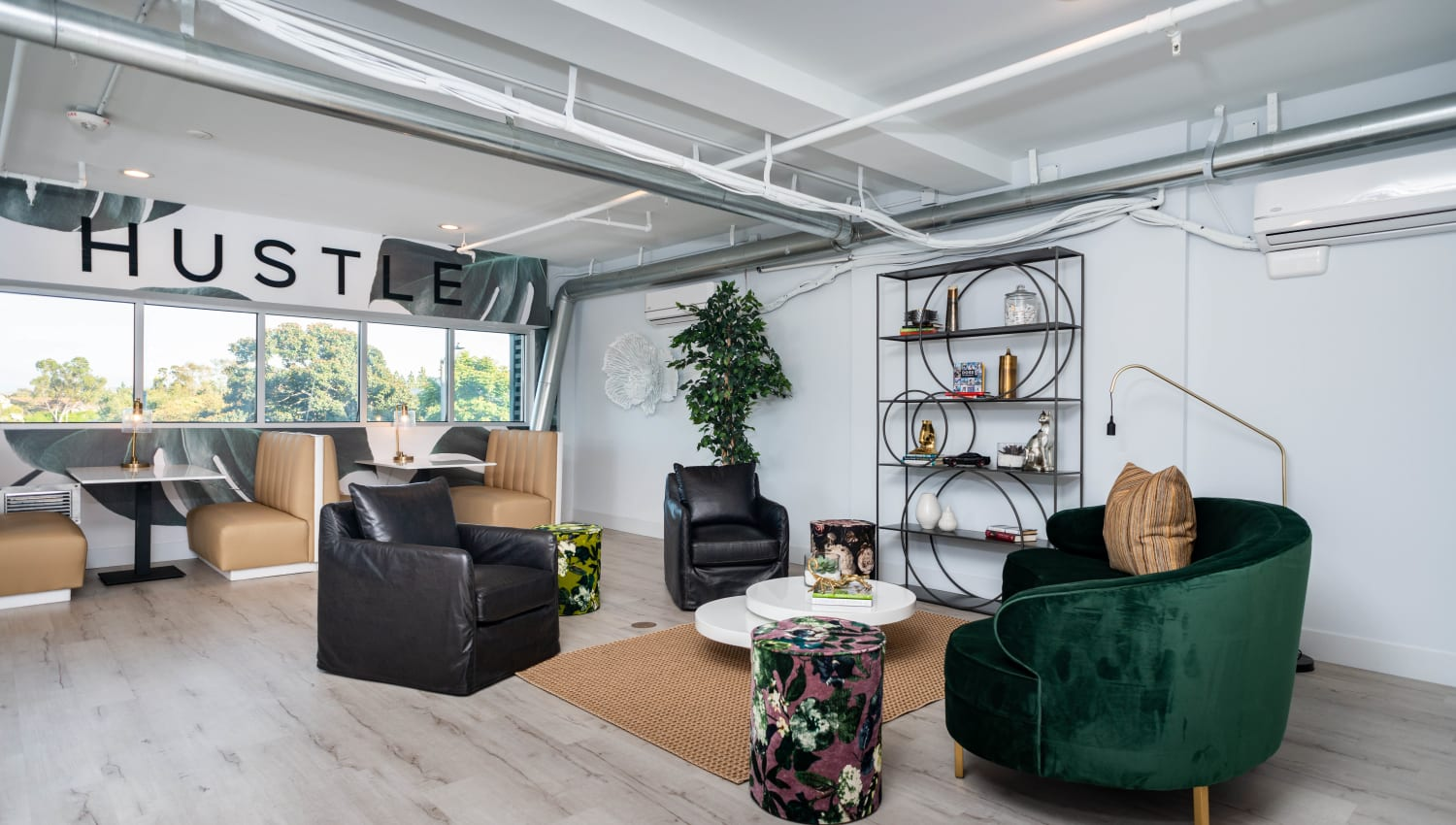 Resident lounge area at Fusion Apartments in Irvine, California