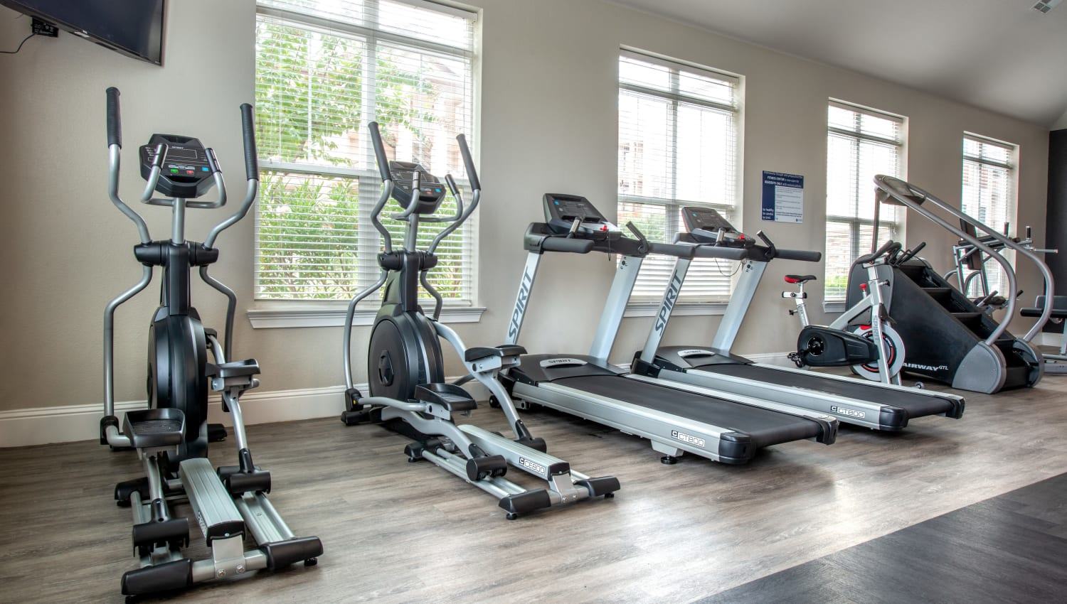 Fitness center at Olympus Katy Ranch in Katy, TX