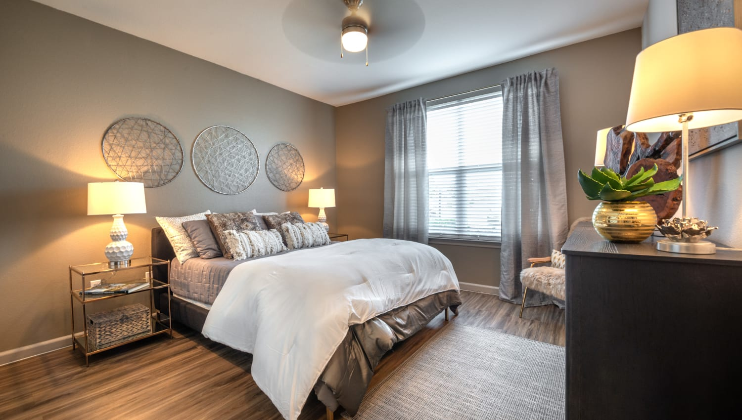 Cozy bedroom at Olympus Katy Ranch in Katy, Texas
