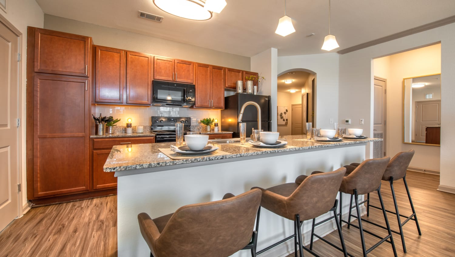 Beautiful kitchen at Olympus Katy Ranch in Katy, Texas