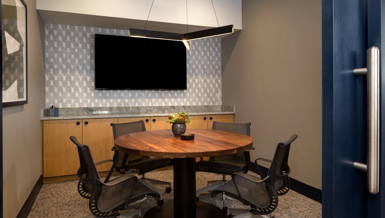 Meeting room at Olympus on Broadway in Carrollton, TX