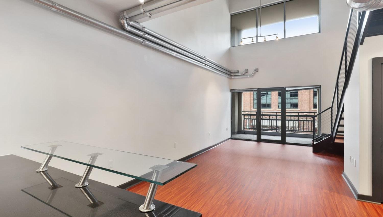 Open bottom floor at 17th Street Lofts in Atlanta, Georgia