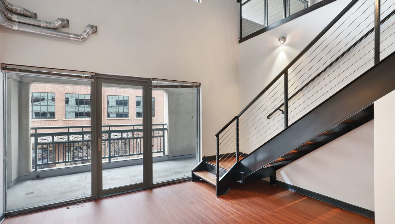 Stairs at 17th Street Lofts in Atlanta, Georgia