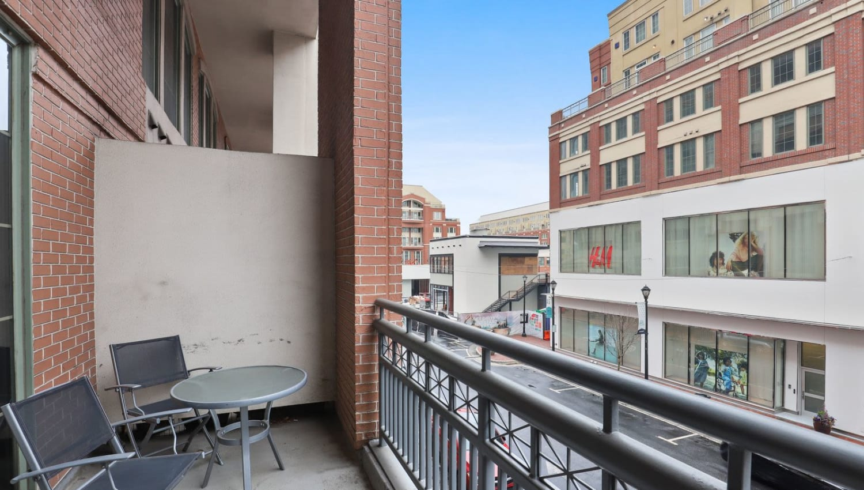 Private balcony at 17th Street Lofts in Atlanta, Georgia