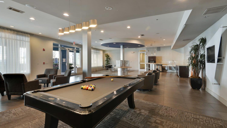 Billiards table at Optimist Lofts in Atlanta, Georgia