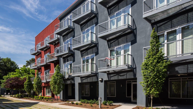 Exterior of Optimist Lofts in Atlanta, Georgia
