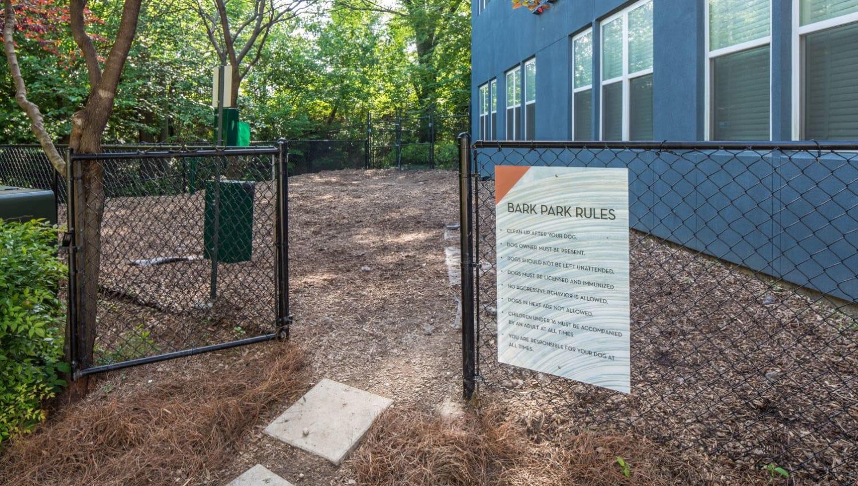 Dog park at Optimist Lofts in Atlanta, Georgia