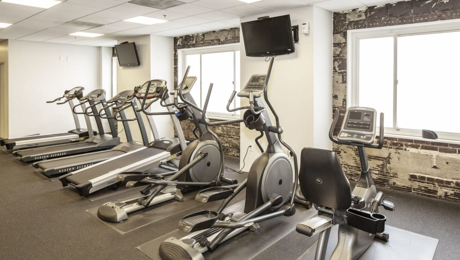 Fitness center for residents at Solace on Peachtree in Atlanta, Georgia