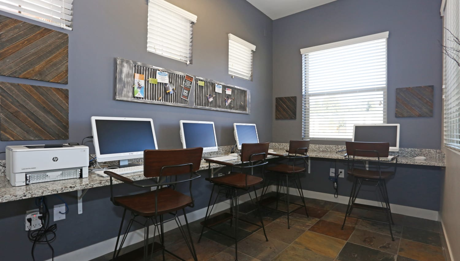 Resident business center at Mountain Trail in Flagstaff, Arizona
