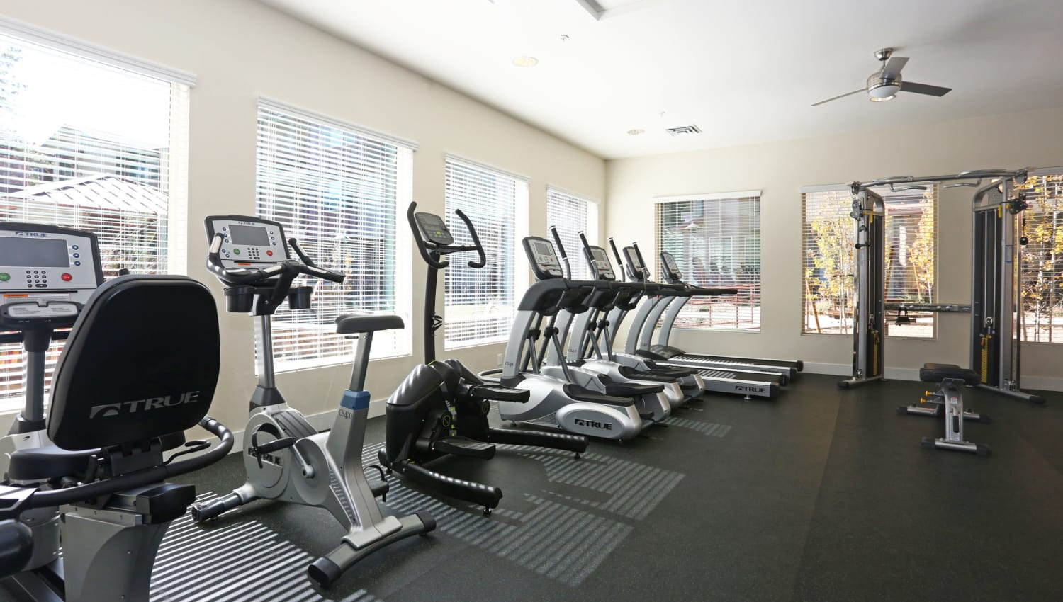 Well-equipped fitness center at Mountain Trail in Flagstaff, Arizona