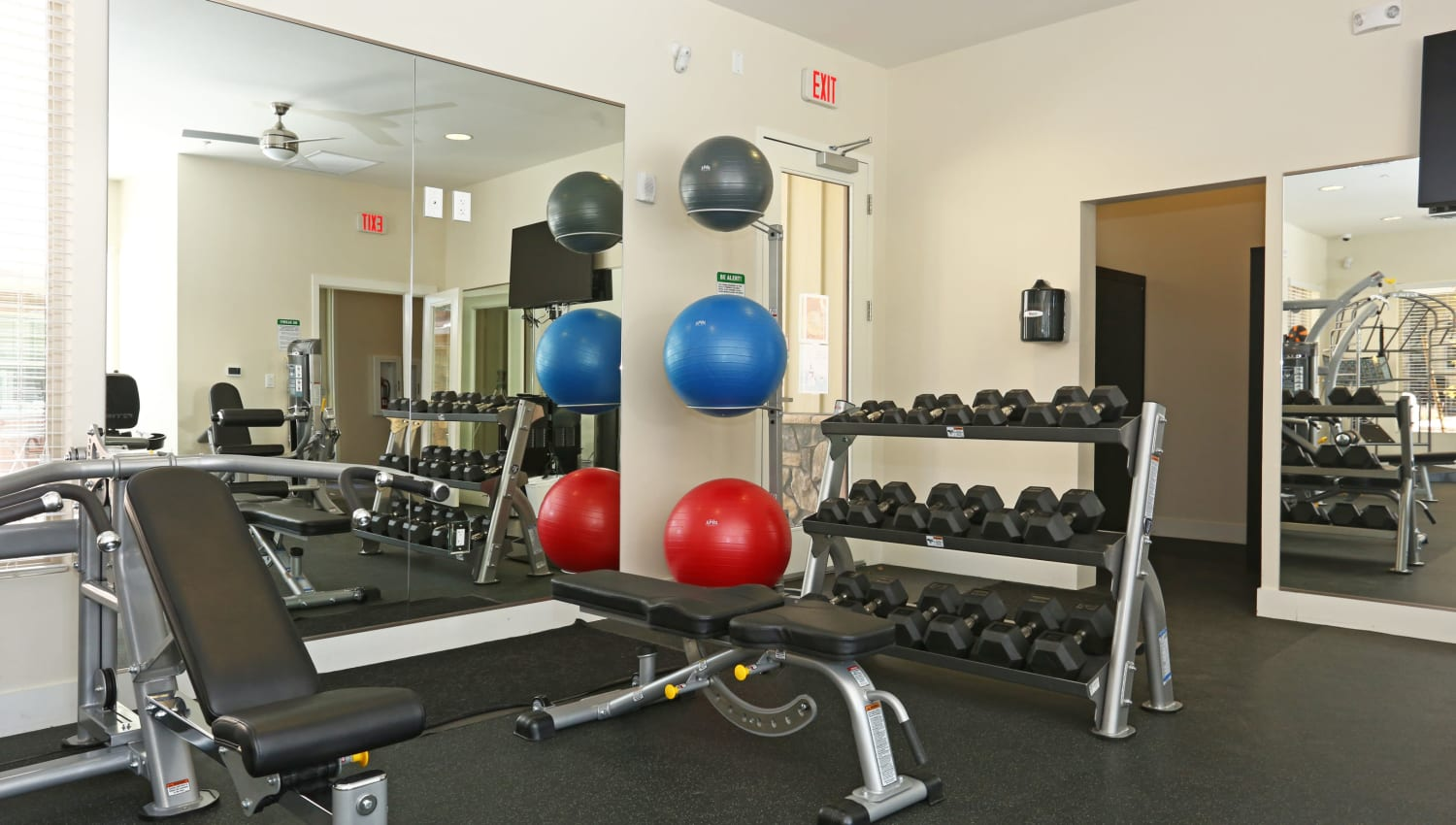 Fitness center with exercise balls Mountain Trail in Flagstaff, Arizona
