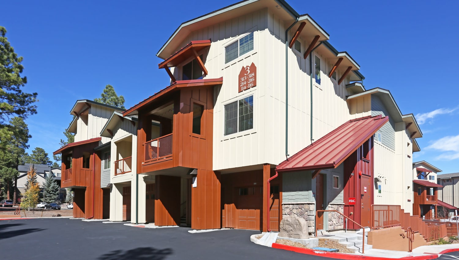Exterior view of our luxury community at Mountain Trail in Flagstaff, Arizona